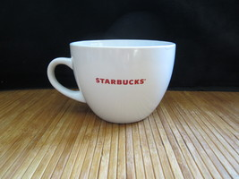 2008 Starbucks Ceramic White with Red Coffee Mug Tea Cup Cereal Bowl 18 ... - $14.99