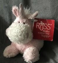 "Russ Berrie Buddies Glenda Pink Unicorn 4.5"" Mini Plush Stuffed Animal N... - $26.10"