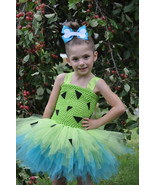 Pebbles Tutu, Pebbles Costume, Pebbles Flinstones Dress, Pebbles Dress - $40.00