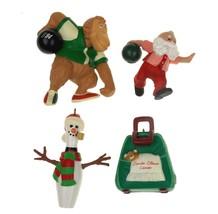 Bowling Hallmark Christmas Ornaments Lot 4 Polar Bowler Snow Strike ZZZs... - £13.94 GBP
