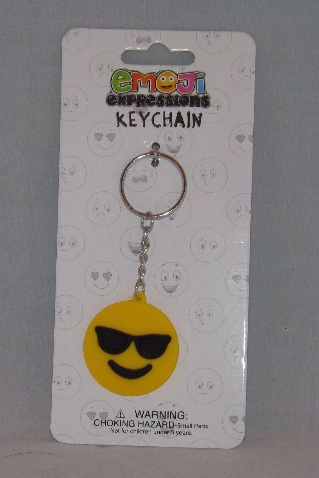 Almar Emoji Expressions Key Chain Ring  - New - Sunglasses Emoji