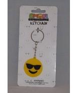 Almar Emoji Expressions Key Chain Ring  - New - Sunglasses Emoji - $4.74
