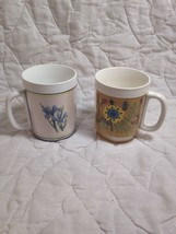(K23) Vintage 70's Thermo-Serv Lot Of (2) Insulated Mugs/Cups - $24.75