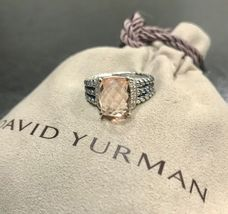 David Yurman Ring Petite Wheaton Morganite And Diamond Size - 8 - $299.99