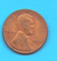 1939 Lincoln Wheat Penny - Circulated High End Condition - $0.35