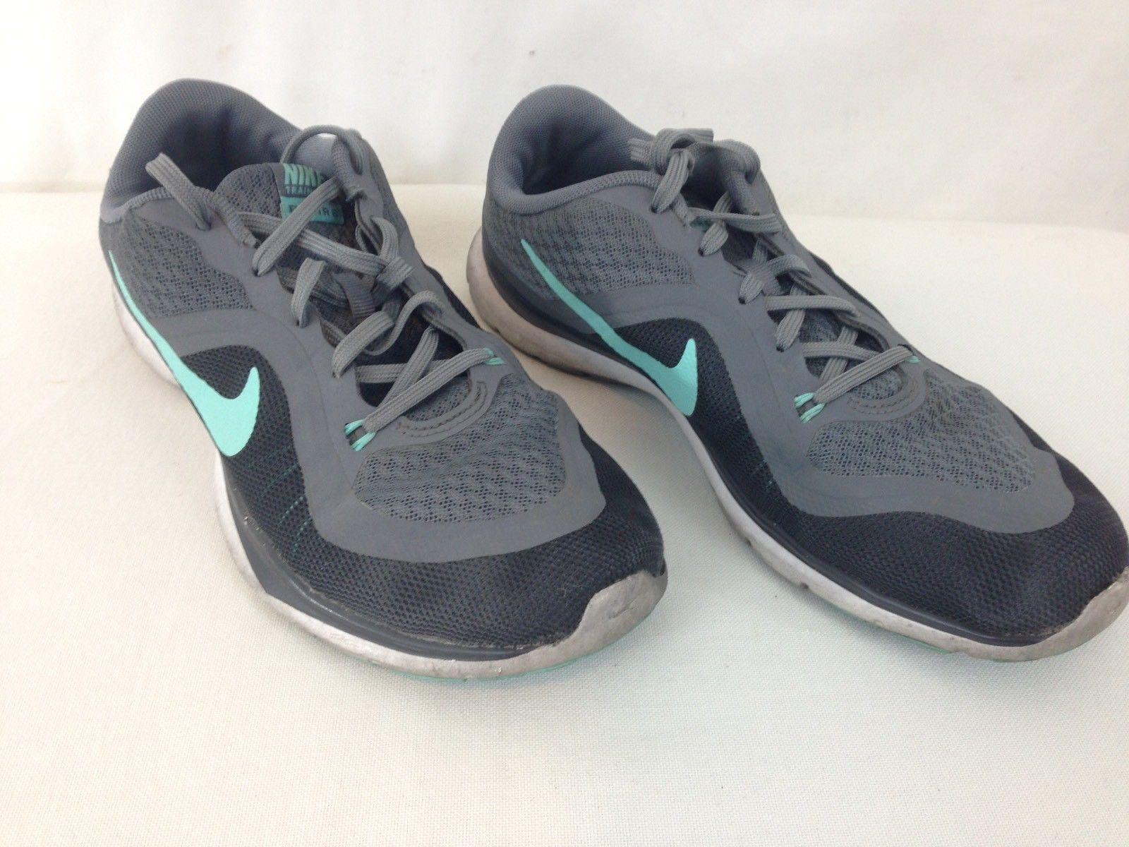 09a566ac429bf Nike 831217-004 Training Flex Tr 6 Womens size 8 Gray Teal Walking Running  Shoes