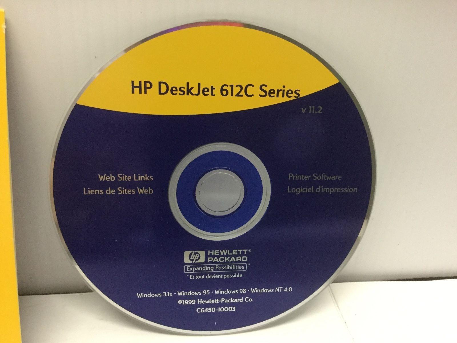 HP DeskJet 612C Series Printer Software CD and 17 similar items