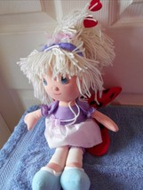 """PRECIOUS MOMENTS PLUSH DOLL LADYBUG LADY BUG WINGS & HEARTS IN HAIR 14"""" ... - $9.18"""