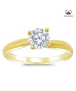 Twisted solitaire engagement ring setting 75 thumbtall