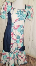 Vtg Made in Hawaii Size S NWT Long Maxi Dress Tiki Pin Up VLV Fit & Flar... - $59.35
