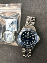 Tested! Vintage TAG HEUER 1000 Pro 980.613 Blue Dial Submariner Diver W... - $724.99