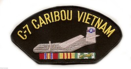 "C-7 CARIBOU VIETNAM VETERAN EMBROIDERED 6"" SERVICE RIBBON MILITARY   PATCH - $15.33"