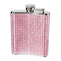 Oggi 9248.13 Glitter and Glitz Stainless Steel Hip Flask Pink - €20,53 EUR