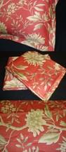 Pillow Sham mw New Ralph Lauren Villa Camelia fabric Coral Pink Ivory pi... - $14.45+
