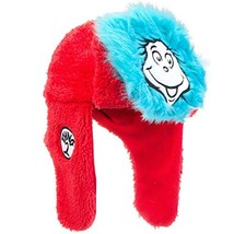 Dr. Seuss - Unisex-adult Dr. Seuss - Thing 1 And Thing 2 Bomber Hat Red - $23.61