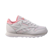 Reebok Classic Leather Little Kids' Shoes White-Pink Glow-Twisted Coral ... - $35.20