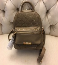 BRAND NEW Bebe Stud Mini Backpack Taupe Brown Gold Studded - $65.99
