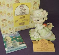 Precious Moments WE'RE SO HOPPY YOU'RE HERE 261351 Girl with Bunny 1997 ... - $13.79