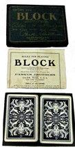 """Vintage 1904 Parker Brothers """"BLOCK"""" Card Game - $44.95"""