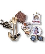 DOLLHOUSE Deluxe Fireplace Accessories Set 18596 Reutter Miniature 1-12 ... - $49.00