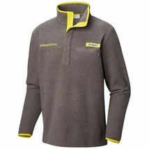 Columbia Men's PFG Oregon Ducks Harborside Fleece Pullover Jacket Gray &... - $34.65