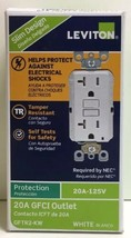 (New) Leviton Tamper Resistant GFCI Outlet 20A-125V, GFTR2-KW - $21.28