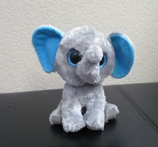 Ty Beanie Boos Peanut the Elephant Big Blue Solid Eyes NO TAG - $7.91