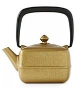 TEAVANA Metallic Gold Black Yoho Cast Iron Square Teapot 12 Oz With Infu... - $58.25
