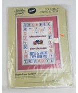 Vintage Something Special counted cross stitch Home-Love Sampler needlework - $16.78