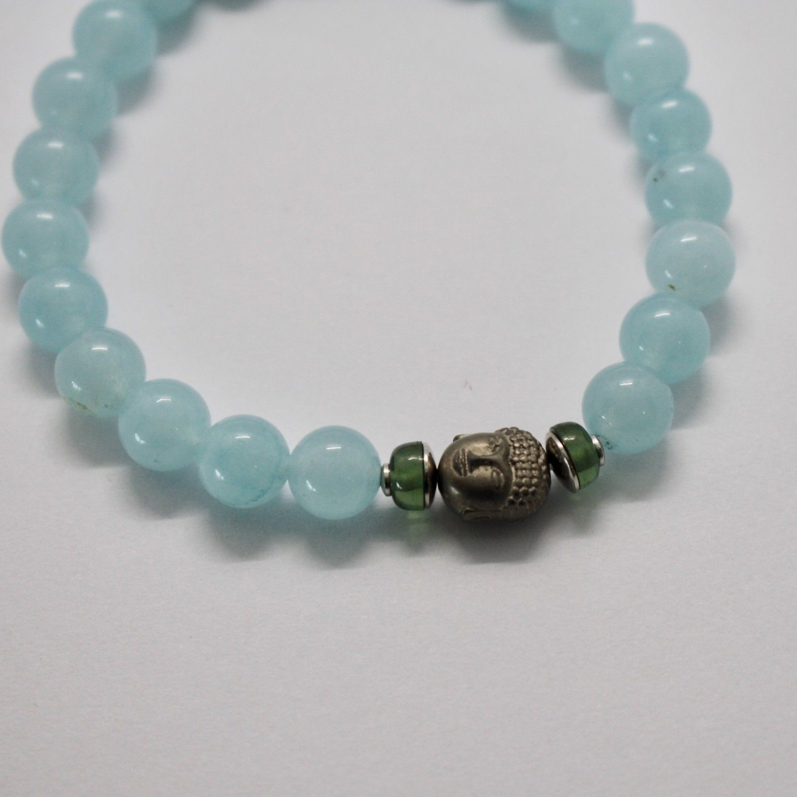 Silver 925 Bracelet with Hematite & Jade Blue BPR-5 Made in Italy by Maschia