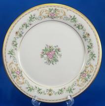 "Gorham Royalston Salad Plate Cream Porcelain Roses Gold Trim 8.5"" - $11.88"
