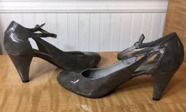 Gray strap patent Women's amp; Libby 9 Size heels Sam ankle wI1nPB