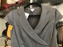 Armani Collezioni Gray & White Print Cap Sleeve Dress Sz 8 $1095 - $335.51