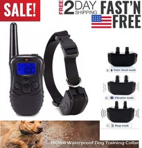 Petrainer Rechargeable Waterproof Dog Training Collar Electric Remote E-... - $26.34