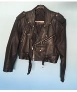 Black Genuine Leather Motorcycle Jacket - Wilson, Size M - $126.95