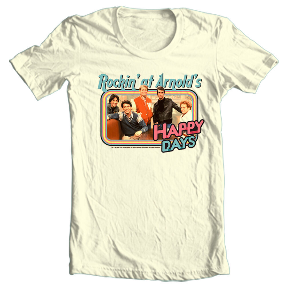 Happy Days T-shirt Rocking at Arnolds Fonzie retro 70's 80's cotton graphic tee