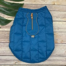 Kurgo Dog Jacket Size S Blue Orange Reversible Water Resistant Quilted - $16.82