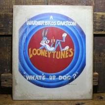 "12.5"" LOONEY TUNES Bugs Bunny Warner Bros sign pop ART Wood Vtg style Sign - $29.39"