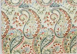 "Set of 4 Same Printed Fabric Placemats (13"" x 18"") FLOWERS & PAISLEY DES... - $19.79"