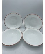 Corelle by  Corning Elegant Rose Set of Four (4) Soup/Cereal Bowl Swirl ... - $29.44