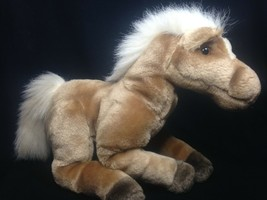 Manhattan Toy Plush Horse Palomino Arabian Vintage 1997 Stuffed Animal P... - $33.25