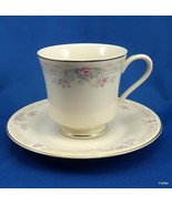 United Surgical Steel China Gold Ivory Lace Tea Cup and Saucer Set - $8.71