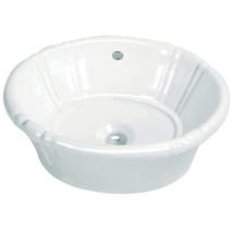 Fauceture Vintage EV18157 Vitreous China Single Bowl Lavatory Sink, White - $122.89