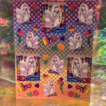 Lisa Frank Complete Sticker Sheet S270 Polka Dot Princess Pearls Maltese Puppy image 1