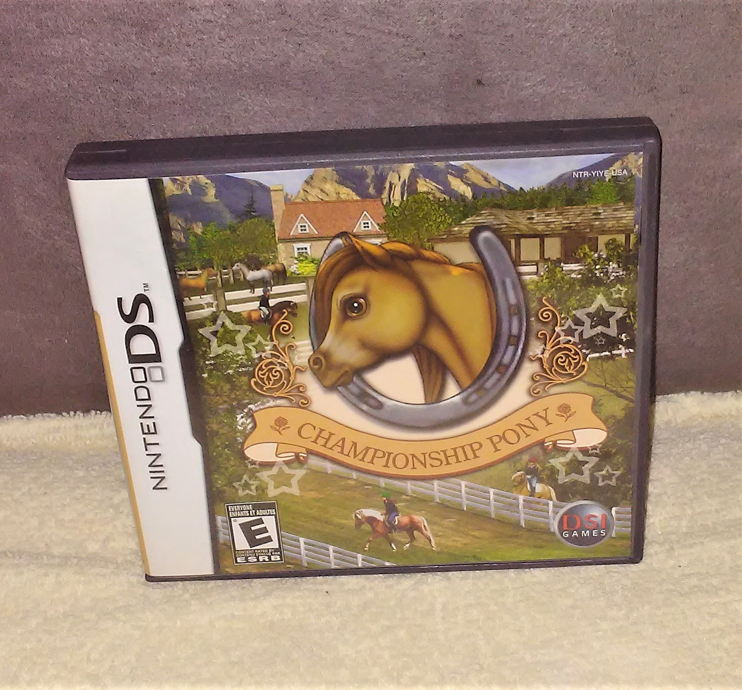 Nintendo DS CHAMPIONSHIP PONY Video Game in case with Instructions from 2007