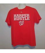 Washington Nationals Red Harper Hustle T-Shirt Mens Large MLB Baseball - $14.52