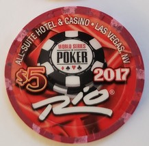 2017 World Series Of Poker $5 casino chip Rio Hotel Las Vegas Limited Edition - $9.95