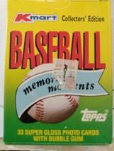 1988 TOPPS KMART COLLECTORS EDITION MEMORABLE MOMENTS BASEBALL CARDS AWE... - $6.65