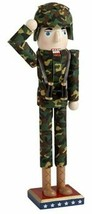"""New Wooden Christmas Nutcracker, 15"""", USA ARMY, AMERICAN SOLDIER AT ATTE... - $24.74"""