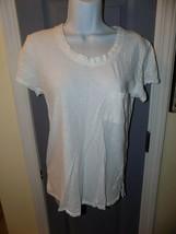 Fresh Produce White Scoop Neck Front Pocket T-Shirt Size XS Women's EUC  - $28.00